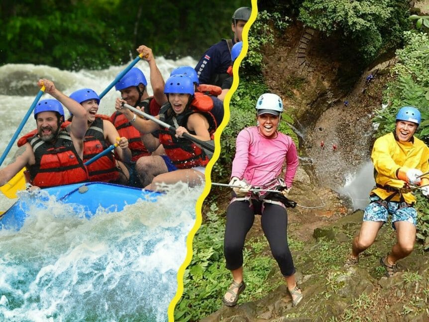 A full adrenaline white water and canyoning combo
