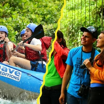 Hanging Bridges and Rafting Adventure Combo is designed to see the beauty of the Tropical Rainforest