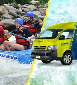Add some adventure to your transfer with this Rafting Class IV and Transportation from or to San Jose.