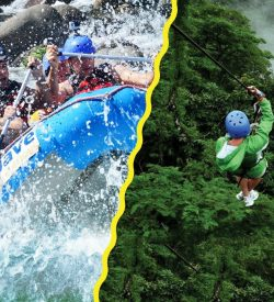 this rafting and zip line combo is designed for extreme thrills