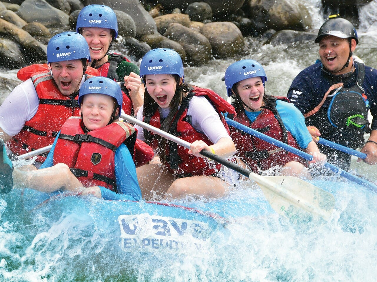 family rafting class ii and iii from arenal at wave expeditions