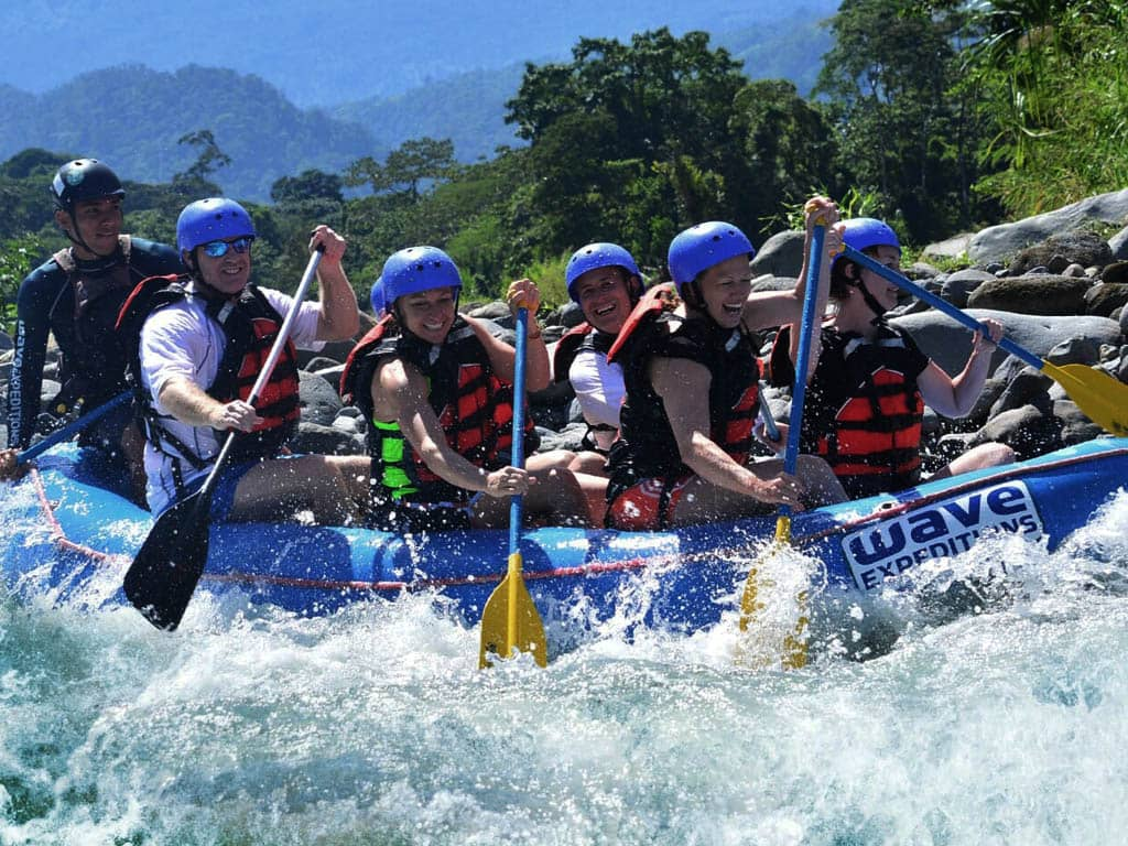 white water rafting class iii iv from arenal wave expeditions