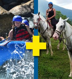 Horseback riding plus Hike and Rafting Adventure Combination in Arenal