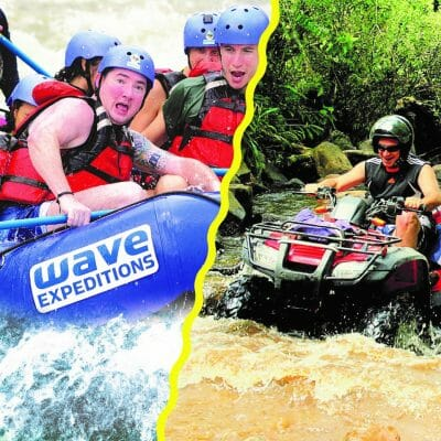 white water rafting and atv adventure combo in arenal.